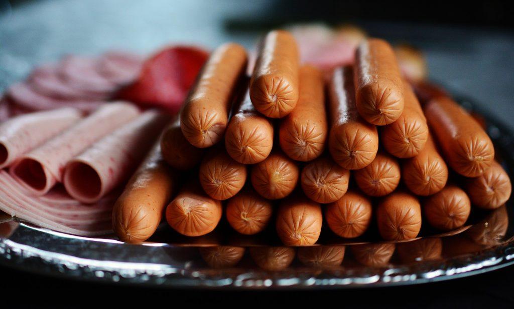 processed meat (sausages, ham, salami)
