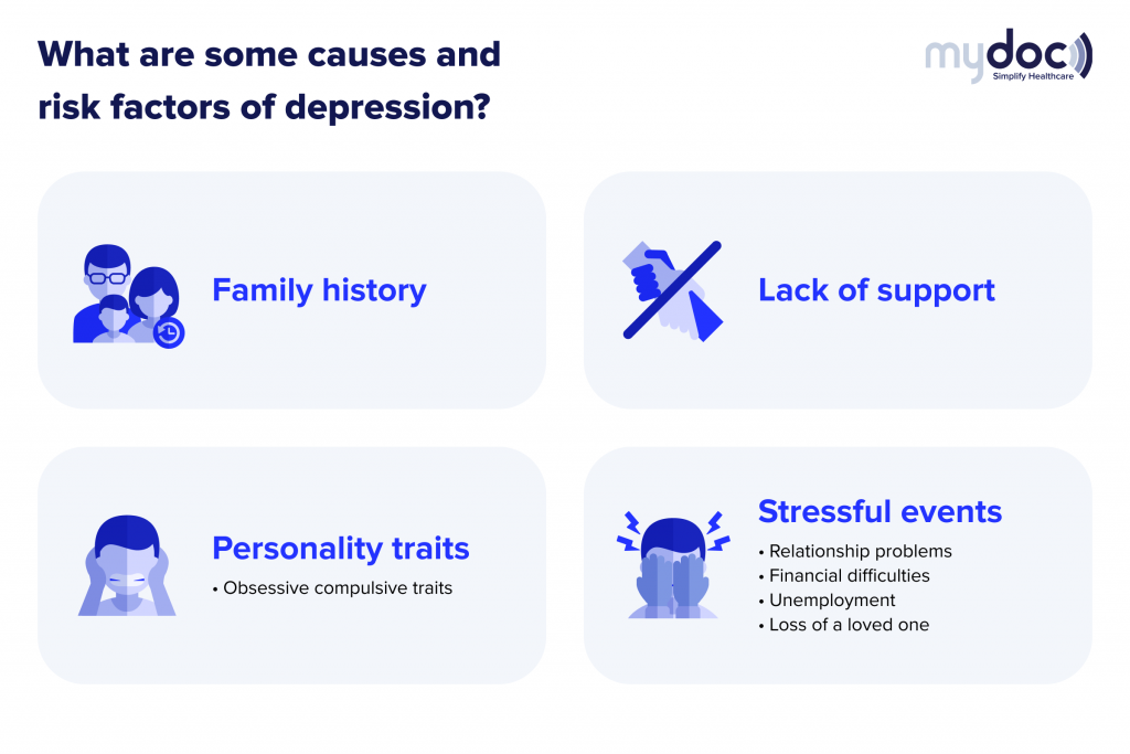 Infographic on the causes of depression