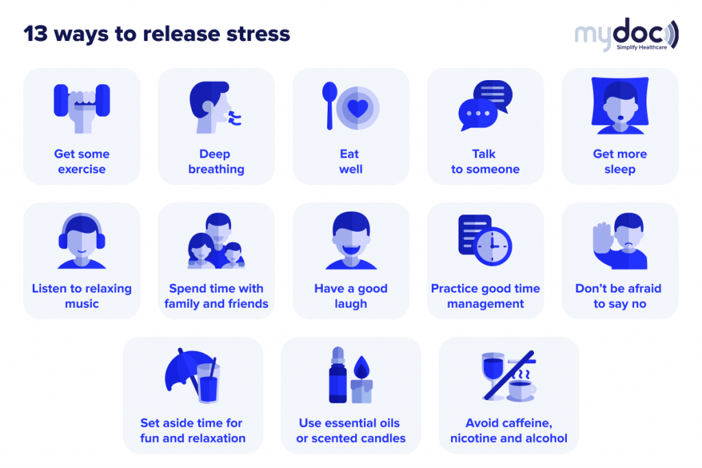 infographic on how to release stress