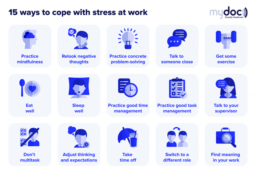 Infographic on how to cope with stress