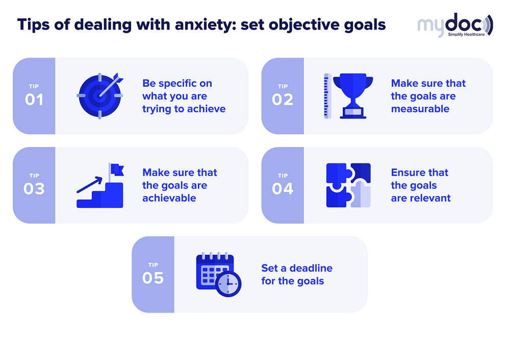 Infographic sharing the tips of dealing with social anxiety